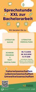 Sprechstunde Naturwissenschaften 20170207