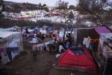 Im Lager Moria auf Lesbos – Foto: Knut Bry