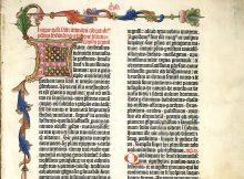 Ausschnitt aus der Göttinger Gutenberg-Bibel - Foto: Niedersächsische Staats- und Universitätsbibliothek Göttingen